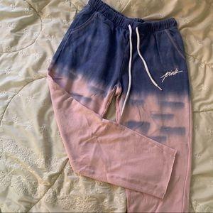 PINK cropped sweats (XS)